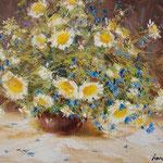 Flowers,  Blumen,  30 x 40cm  2013, Oel auf Leinwand (verkauft, sold)