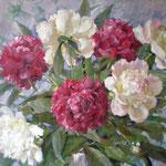 Пионы, Peonies, Pfingstrosen, гуашь,Gouache, 40х50 см, 2009   (verkauft, sold)