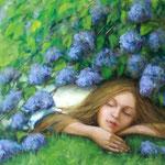 Traum, 50 x 70 cm, 2014, Oel auf Leinwand  - verkauft / sold