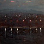 Nacht, 70 x 50 cm, 2014, Oel auf Leinwand