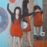 Lebenszeit, 100cm x 75 cm, 2014,Oel auf Leinwand