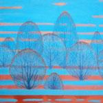 Blaue Stunde, 70 x 50 cm, 2014, Oel auf Leinwand