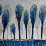 Blaue Pappeln, 30 x 40 cm, 2014, Oel auf Leinwand - verkauft / sold