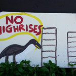 no highrises - anything with a dinosaur gets us laughing