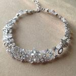 [Grain of light necklace ] 2014  material: swarovski grass,brass