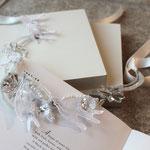 [ Seagulls from venezia ] 2011  material: antique Italian grass, Italian lace,ribbon,brass