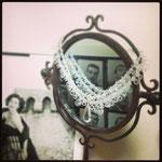 [Grace necklace ] 2013  material: Cubic Zirconia,swarovski grass,brass