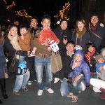 スノーボード仲間と家族