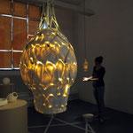 Lampen aus Porzellan modelliert