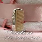 """Торт из памперсов """" Розовые сны """" (Коллекция """"Изящные подарки"""" ) VIP  подарок новорожденной девочке. Посеребрённая расчёсочка  для волос."""
