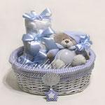 """Детский подарочный набор для мальчика  с мини тортиком из памперсов """"Мишка Светик"""""""