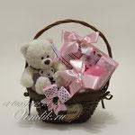 """Подарочная корзина для новорожденной девочки """"Мишутка"""""""