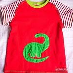 T-Shirt mit Dino-applikation