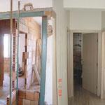 04 - Realizzazione di apertura cerchiata su muro portante per la creazione del disimpegno notte (Budrio, BO)