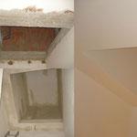 03 - Realizzazione di foro su solaio portante per l'inserimento della scala d'arredo (Budrio, BO)