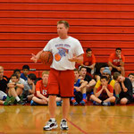 Coach Walker addresses campers