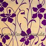 Beige mit Hibiskus lila