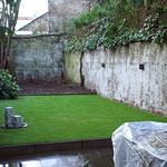 Pflegeleichter Garten, immergrün ohne Rasenmähen.