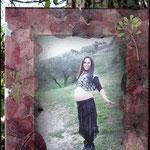 Fotografía transferida a lienzo y decorada con pétalos de Amapola y hojas de Ruda NO DISPONIBLE