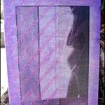 Nutriéndote te espero... (Fotografía transferida a madera y pintada con pintura acrílica. Con retal de tela transparente y puntilla) NO DISPONIBLE