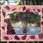 Rosas (Fotografía transferida a lienzo y decorada con pétalos de Rosa y pintura acrílica) NO DISPONIBLE