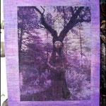 Conciencia (Fotografía transferida a madera y pintada con pintura acrílica)