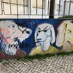 Die Stadt der Graffitis.