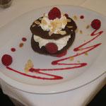 millefeuilles au chocolat et aux framboises