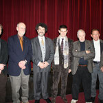 At the World Premiere of Il Caso Mortara with (from left to right) Gregory Spears, Charles Wuorinen, Tobias Picker, Francesco Cilluffo, Ned Rorem, David Del Tredici and Daniel Felsenfeld, February 25, 2010