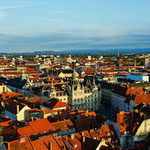 Widok na miasto ze Schlossbergu.