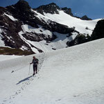 Schneefeld in der Nähe der Pfälzer Hütte