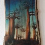 """LA PRIMA VISTA"" Edition  ""Arte NaVi da Wilma"" -  UNIKAT -  Verarbeitung: Reproduktion UV/6C/ Baumstamm – NUSS Format: ca. OB 40/UB 44/H 60cm (Privatsammlung)"