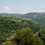 La vallée du Tarn vue de Saint Igest