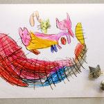 "ohrstecker ""grumpy cats"", silber und gold 750/-, julia rauen"