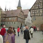 Auf dem Marktplatz in Weikersheim