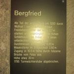 Inschrift zum Bergfried