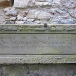 Inschrift Stauferburg Krautheim