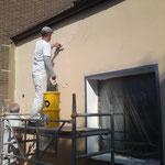 Kratzputzbeschichtung an der Fassade