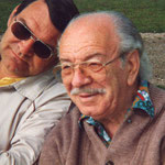 Gerhard Slunecko mit seinem Schwiegervater Josef Kaderka