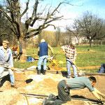 1998 Bau der Bocciabahn Lupo Müller, Klaus Fredy, Acklin Heinz, Ignazius Schmid, Markus Reimann