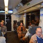 Im Zug Richtung Luzern