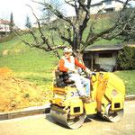 1998 Bau der Bocciabahn Lupo auf dem Stahlross