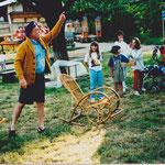 1998 Einweihung Bocciabahn Fredy Klaus in Aktion