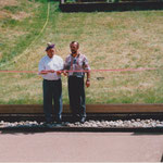 1998 Einweihung Bocciabahn Hans Ott und Thomas Deiss