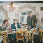 1999 GV Wechsel im Vorstand - Jürgen und Doris Klostermann, Irene Gloor, neu Präsidentin, Klaus Fredy, alt, Lupo Müller
