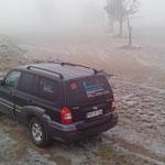 Truppenübungsplatz im Nebel