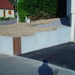 Mur en L + traverses en bois