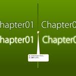 Theme2-2 タイトルロゴ(2) 背景から浮き立たせるロゴタイトル
