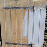 Décapage de peinture sur volet en bois - Après