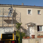 Nettoyage de trace d'oeuf sur façade